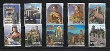 JAPAN 2010 REPUBLIC OF SAN MARINO COMP. SET OF 10 STAMPS IN FINE USED CONDITION
