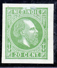Nederlands Indië, Kleurproeven emissie 1870, ongetand, geen gom. 20 cent groen