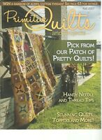 Primitive Quilts and Projects Magazine Fall 2017 Template Pattern Pages Intact