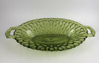Indiana Glass Honeycomb Olive Green Pickle Relish Dish Depression Glass Vintage