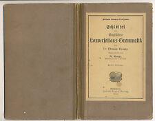 Schlüssel zur englischen Konversationsgrammatik Gaspey  / Runge  1911