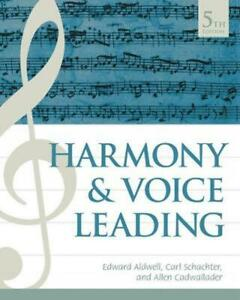 Harmony and Voice Leading by Allen Cadwallader (English) Hardcover Book Free Shi
