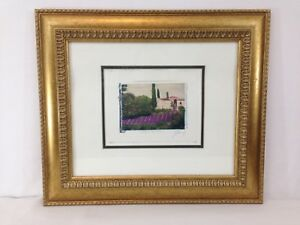 Ginny Ganong Burgundy France Wood Framed Artwork Limited Edition Art Print