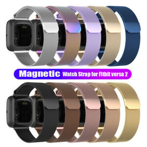 Replacement Band for Fitbit Versa 1/Versa 2/Lite Watch Stainless Wristband Strap