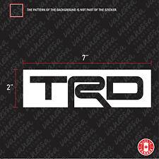 2X  TRD TOYOTA logo sticker vinyl decal