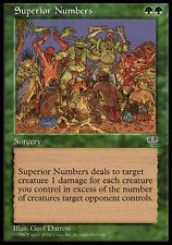 4x Superior Numbers Mirage MtG Magic Green Uncommon 4 x4 Card Cards