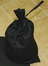 Black Canvas Money Bag Blank Bank Gift Deposit Transit Coin Tie Sack Bag 12x19