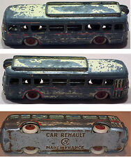 Ancien bus jouet CAR RENAULT CIJ MADE IN FRANCE collection old toy