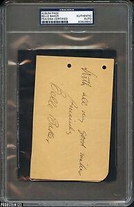 Belle Baker Album Page Signed AUTO PSA/DNA AUTHENTIC