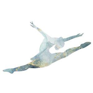 Vinyl Kids Girls Bedroom Art Gymnast Ballerina Logo Multicolor Design Wall Decal