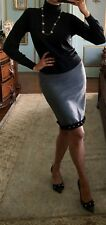 NWT Ann Taylor Gray Wool Pumps Size 9,5M With Matching Pencil Skirt Size 4 $220