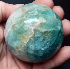 """2.5"""" 1+ lb Fluorite Crystal Ball Sphere W/Stand Metaphysical Healing B324"""