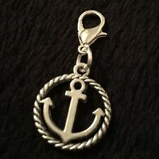 Anchor Bracelet Charm Clip Purse Zip Nautical Rockabilly Sailor Pin Up Ship Rope