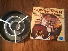 Chicago Metallic Checkerboard Cake Pan Set New in Box
