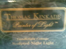 Thomas Kinkade Candlelight Cottage Sculpted Night Light Nib-Free Shipping