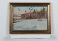 Winter landscape original oil painting landscape art impressionism art home