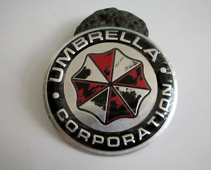 Umbrella Corporation Auto Emblem Aufkleber Badge rund - Aluminium / used look