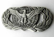 USAF US AIR FORCE PROTECTION EAGLE WREATH WINGS LAPEL PIN BADGE 1.75 INCHES