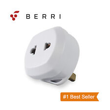 Berri Shaver Adapter Plug UK To 2 Pin Socket Plug Fuse Bathroom Shaving