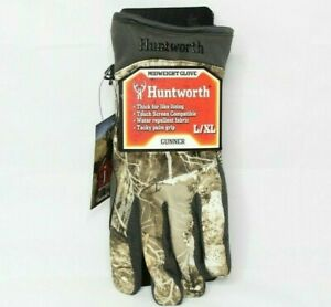 Huntworth Men's Stealth Series Midweight Gunner Camouflage Hunting Gloves L / XL