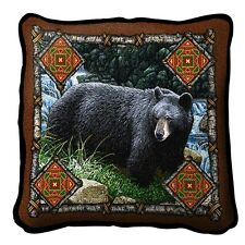 Bear Lodge Art Tapestry Pillow 1572-P Made in USA