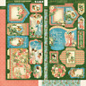 "Graphic 45 ""Joy To The World"" Tags & Pockets Scrapbook Mixed Media Christmas"