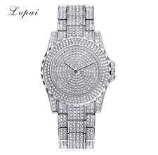 UK New Ladies Bling Quartz Watch Fashion Luxury Diamond Rhinestone Wristwatches
