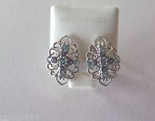 New! Beautiful Iolite Topaz White Gold  Earrings