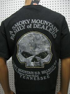 nwt Mens HARLEY DAVIDSON *Label H-D* Willie G Skull Black Tee Shirt