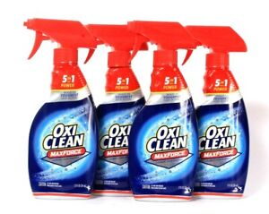4 Bottles Oxi Clean 12 Oz Max Force 5 In 1 Power Laundry Stain Remover Spray