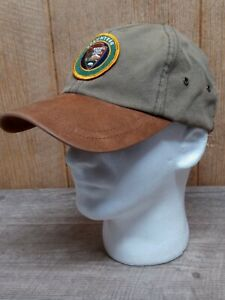 National Park Service Green Brown Volunteer Canvas Patch Collectable Hat Cap MK1