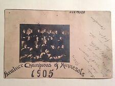 1905 RPPC AMATUER CHAMPIONS OF MINNESOTA NEW PRAGUE FOOTBALL