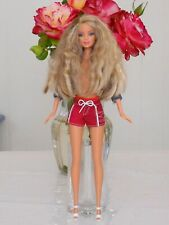 Wavy Wild Super Cute Blonde Barbie Doll With Nipple Implants, Sexy Urban Outfit