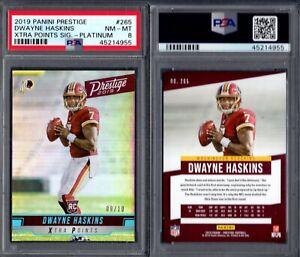 PSA 8 2019 Prestige Xtra Points Platinum #265 Dwayne Haskins RC 9/10 G00 2664