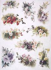 Carta di riso per Decoupage Decopatch Scrapbook Craft sheet Vintage Fiore Bouquet