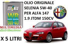 5 LT OLIO MOTORE ORIGINALE SELENIA WR 5W40 ALFA ROMEO 147 1.9 JTDM DIESEL 150 CV