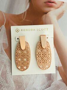 Kendra Scott Rose Golden Drop Earrings Free Shipping