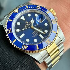 2016 Rolex Submariner 116613lb Blue Ceramic 18k Yellow/Steel w/ Box and Papers