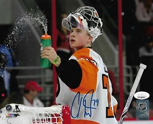 Carter Hart Water Bottle Philadelphia Flyers Autographed Signed 8x10 Photo JSA