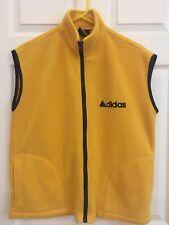 ADIDAS Yellow/Black soft fleece full zip Vest Size M