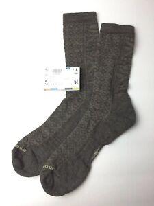 Smartwool Cushion crew Socks SW0SW530736-L Sz L (SHOE 10-12.5)Taupe Heather NEW