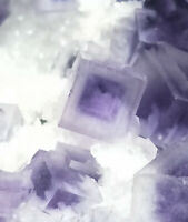 101g Rare Transparent Purple Cube Fluorite Mineral Crystal Specimen/China