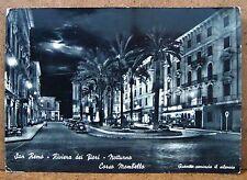 San Remo - Riviera dei Fiori - notturno - Corso Mombello [grande, b/n, viagg.]
