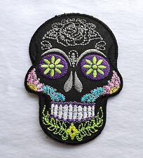 Sugar Skull,Black,Patch,Aufnäher,Aufbügler,Dia De Los Muertos,Mexico