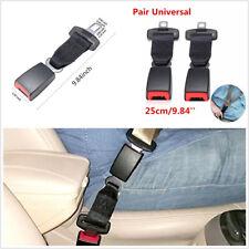 2 Pcs 25cm/9.84'' Car Off-Road Seat Belt Safety Extender Extension Buckle Black