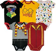 Warner Bros. Harry Potter Baby Boys' 5-Pack Bodysuits Hogwarts Gryffindor