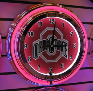 Ohio State Neon Wall Clock Brand New