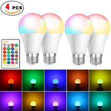 4PCS LED Bulbs Magic RGB Color Changing Lighting Decor Light & IR Remote Control