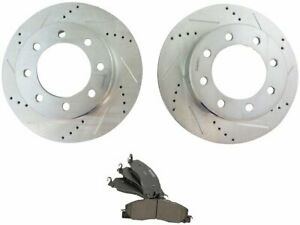 For 2011-2016 Ram 3500 Brake Pad and Rotor Kit Front 75197WS 2012 2013 2014 2015