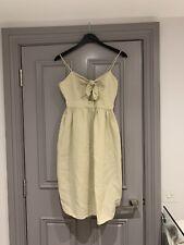Zara Midi Dress With Bow Size M